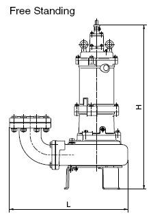 tsurumi-bx-series-free-standing-dimensions
